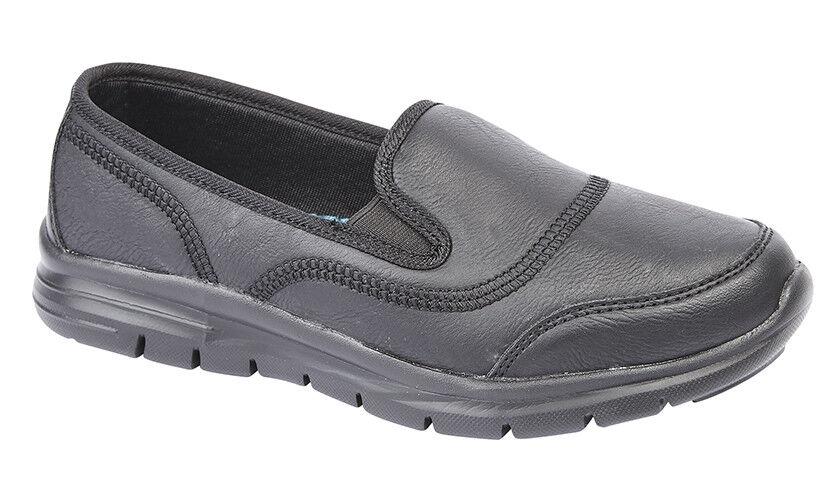 ladies women twin gusset super lightweight leisure casual shoe memory foam 5-9