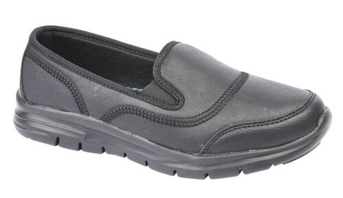 ladies women twin gusset super lightweight leisure casual shoe memory foam 4-9