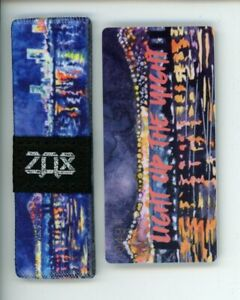 Medium ZOX Silver Strap FIND YOUR LIGHT Wristband with Card Reversible