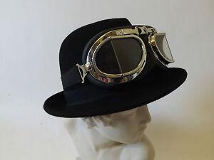 Trilby Hat New Victorian Steampunk Wild West Classic Festival Wool Black