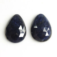 14.40Ct 100% Natural Madagascar Blue Sapphire Gemstone Egg Rose Cut Slice 12*17