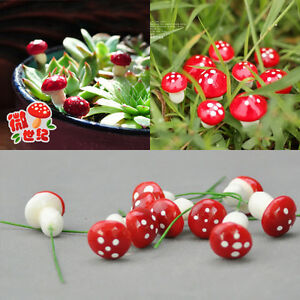 Fashion-Garden-Ornament-20Pcs-Cute-Mini-Mushroom-DIY-Craft-Plant-Pot-Fairy-Decor