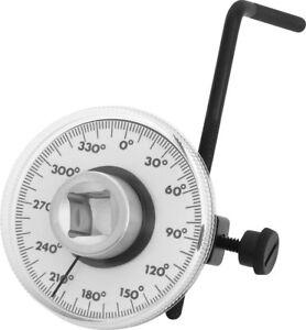 "360° 1/2"" Drive Torque Angle Gauge Meter Angle Rotation Measurer Tool Wrench NEW"