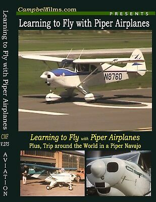 Learning to Fly with Piper Airplanes - PA-22 Tri-pacer PA-31 Navajo Twin  Engine | eBay