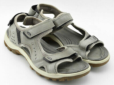WOMENS ECCO ANKLE STRAP TRAIL SANDALS SHOES SIZE 8 8.5 US 39 EU GRAY WATER | eBay