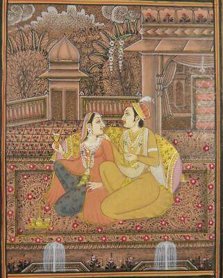 INDIAN MINIATURE PAINTING COUPLE LOVE MUGHAL INDIA ORIENT INDIEN MINIATUR  L52   eBay