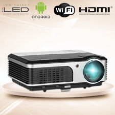 Android WiFi Home Cinema Projector 1080p Smart HD Gaming Movie Video HDMI USB TV