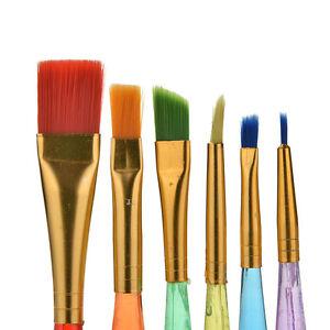 6X-Lot-Art-Pinceaux-Peinture-Set-Huile-Acrylique-Aquarelle-Artiste-PeintureML