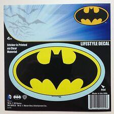"DC Batman Bat Logo Emblem Bright Yellow Black Car Sticker Decal 5"" Officially"