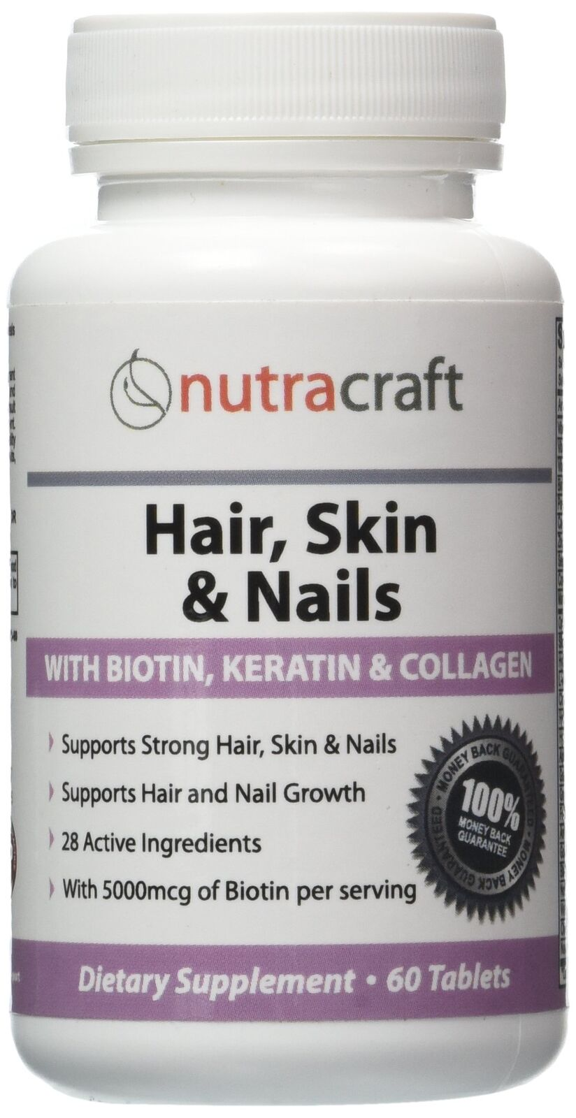 1 Hair Skin Nails Supplement With 5000mcg Of Biotin Keratin Collagen Msm Ebay