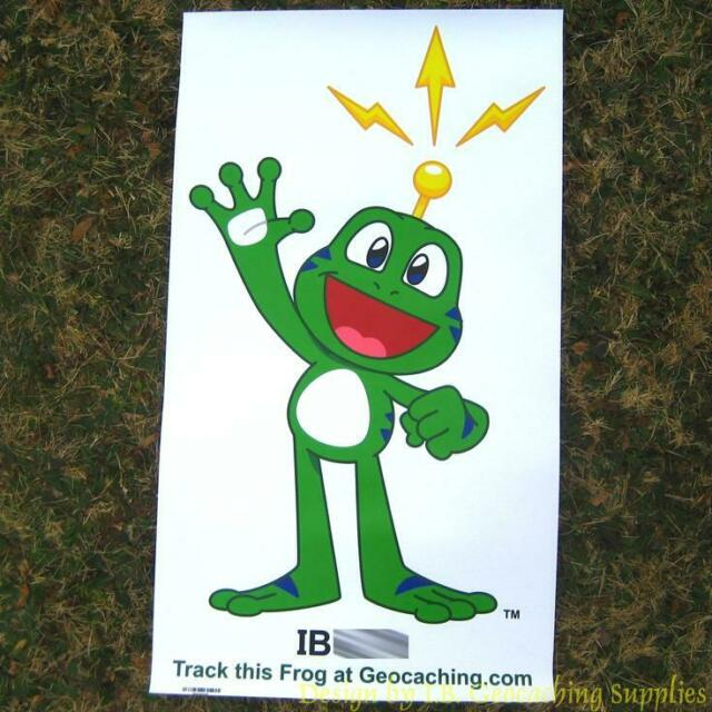 Trackable Geocaching Banner - Signal the Frog