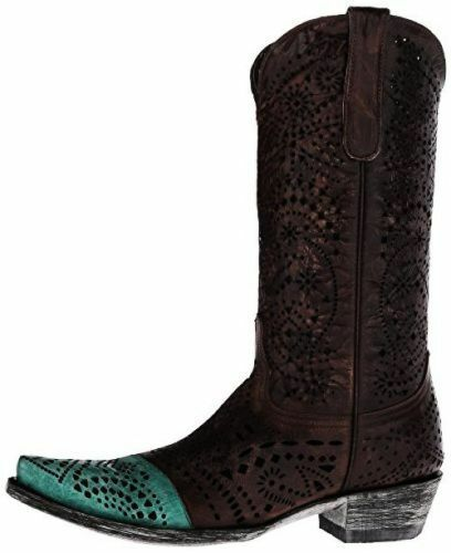 NEW NEW NEW IN BOX OLD GRINGO STRECHER BRASS TURQUOISE WOMENS WESTERN BOOT SZ 9.5    500 db3c63