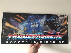 Signe d'affichage suspendu vintage Transformers G1 Overlord Shop Store rare