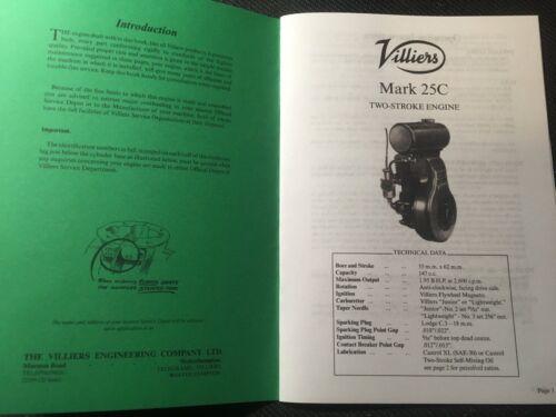 Villiers Engine Mark 25C User/'s Handbook