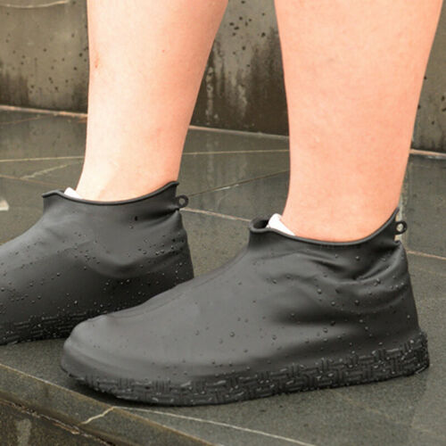 Silicone Waterproof Shoe Cover Rainproof Hiking Skid-proof Outdoor Overshoes US