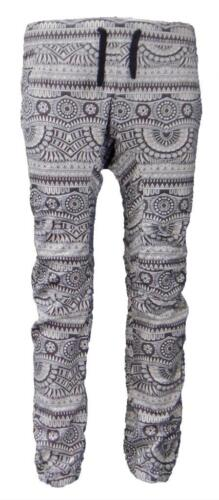 Men/'s American Locker Drop Crotch Slim Fit African Black Print Joggers S-XL