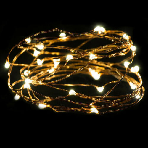 LED String Lights 10//20//30cm Copper Wire Fairy Garden Yard Outdoor SH