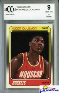 1988-89-Fleer-53-Hakeem-Olajuwon-Beckett-9-Houston-Rockets-Hall-of-Famer