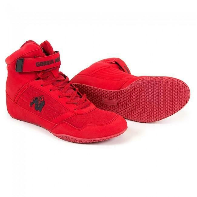 Gorilla Wear High Tops - rot Gym schuhe FREE UK DELIVERY
