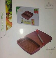LEXUS CUT N WASH CHOPPING BOARD WIT FIXED KNIFE FOR KITCHEN VEGETABLE CUTTER