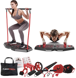 home gym exercise system 8 accessories pro workout