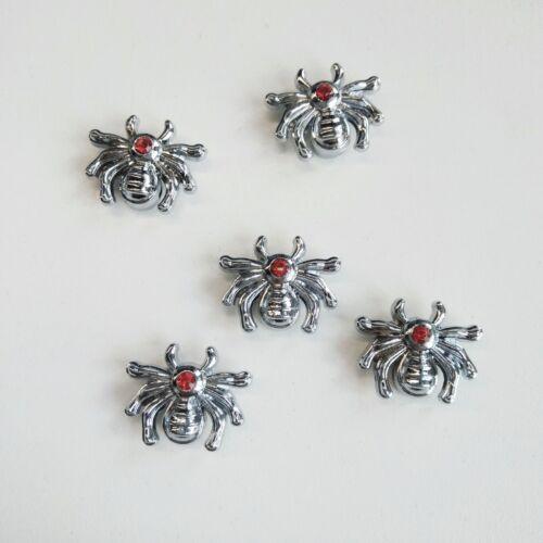 Bracelets 10PCs One Strass Alliage Araignée Slide Charms fit 8 mm Pet Col Ceinture