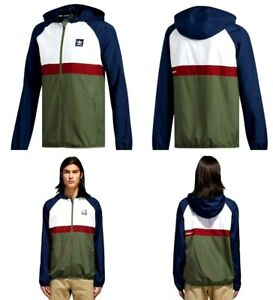 5d4c54277e7f Adidas BB Packable Wind Jacket Navy   White   Green Size Medium Mens ...