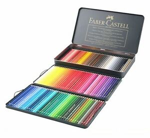 Faber Castell Polychromos Colored Pencils set of 120 Metal Tin Case ...