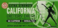 6pk - California Tea - Dieters Drink - 20 Bags, New, Free Shipping on sale