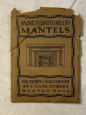 Paine Furniture Co Mantels Boston MA 1903 Price List Rare