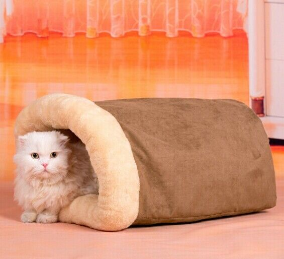 New Warm Interesting Ring Paper Pet Dog Cat Tunnel House Bed Sleeping Bag Size M