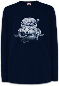 Tattoo-Octopus-Kinder-Langarm-T-Shirt-Tattooist-Fun-Art-Tintenfisch-Taetowierer