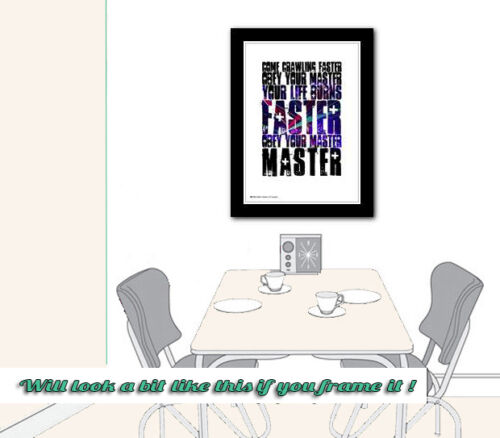METALLICA  Master Of Puppets ❤ song lyric poster art limited print 5 sizes #7