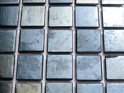 Iridescent Mosaic Tiles Tessera, Tesserae 20mm. 75 Tile Pack, Shiny Black