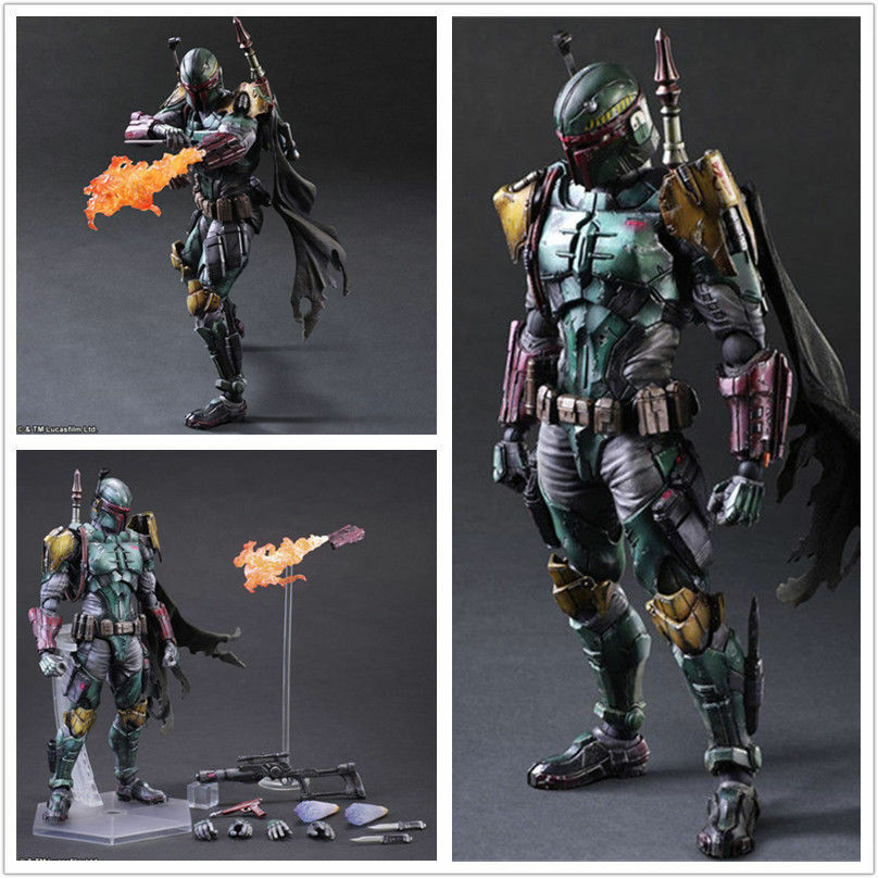 New Star Wars Boba Fett Figure SquareEnix VARIANT Play Arts Kai Model