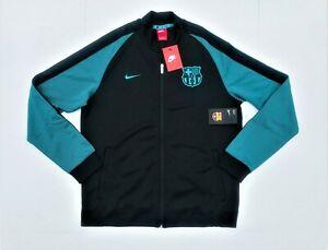 Nike FC Barcelona Authentic N98 Black Teal Track Jacket