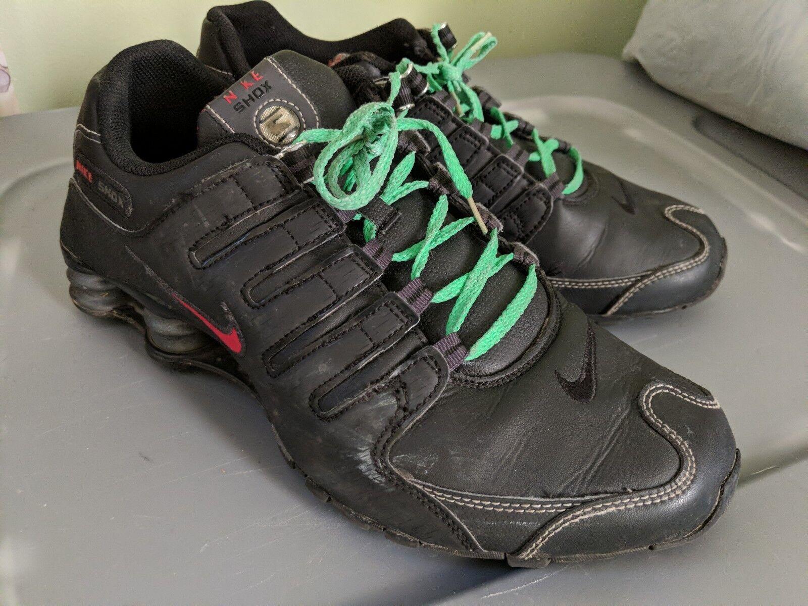 Nike Men's Shox NZ scarpe nero   rosso 378341 -017 Sz 10.Fantastico.  produttori fornitura diretta