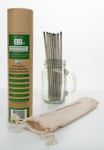 Stainless Steel Reusable Metal Drinking Straws with Case