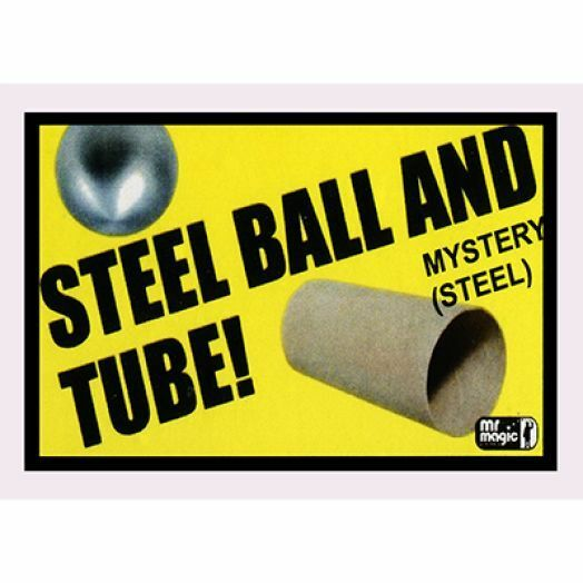 BALL AND TUBE MYSTERY STEEL BY MR MAGIC TRICK ILLUSION SHRINK SINK RISE HOBBY