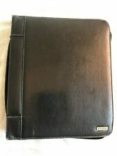 New Listingclassic Franklin Covey Black Leather 15 Rings Zip Plannerbinder