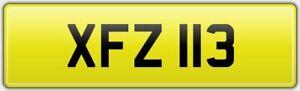 XFZ-113-PERSONALISED-CAR-REG-NUMBER-PLATE-NO-HIDDEN-FEES-XF-JAGUAR-XFR-XFS-R-S