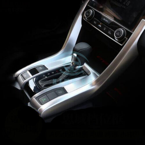 3pcs ABS Gear Shift Panel Decorate Cover Trim For Honda Civic 10th Gen 2016-2017