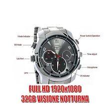 OROLOGIO SPIA 32GB ACCIAIO FULL HD INFRAROSSO VISIONE NOTTURNA SPY CAM CW133