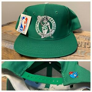 Vintage Boston Celtics Plain Logo Snapback Hat U I I Rare Nba Basketball Cap Hat Ebay