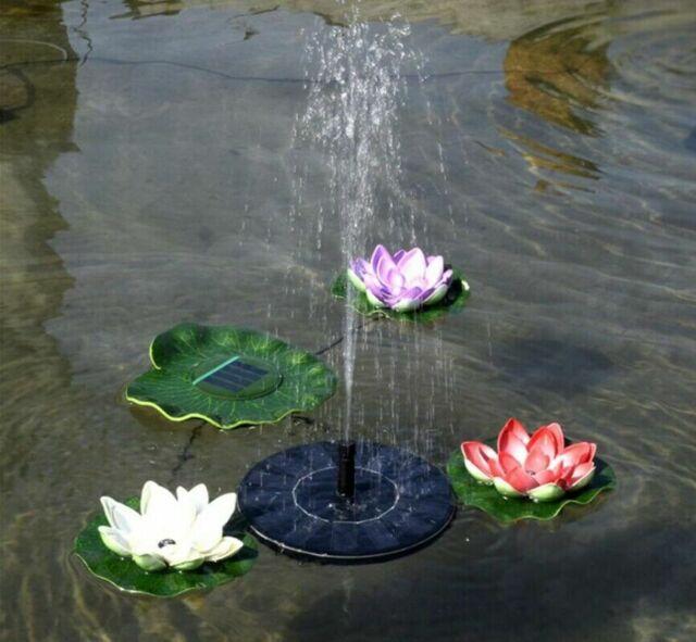 Solar Powered Floating Bird Bath Water Panel Fountain Pump Garden Pond Pool Wide