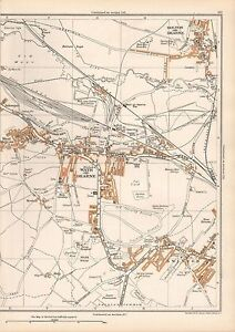 1938 ORIGINAL YORKSHIRE VINTAGE MAP WATH ON DEARNE BOLTON SWINTON