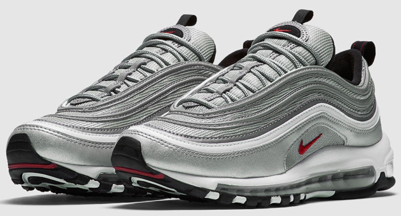 Nike air max 97 og qs argento metallico proiettile 884421-001 & gs autentico 5 - 13