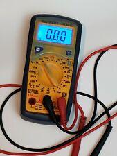Blue Backlit Display Dt321c Digital Multimeter Ac Dc Transistor Temp Tester