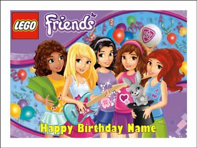 Enjoyable Lego Friends Edible Icing Birthday Cake Party Decoration Topper 2 Personalised Birthday Cards Paralily Jamesorg