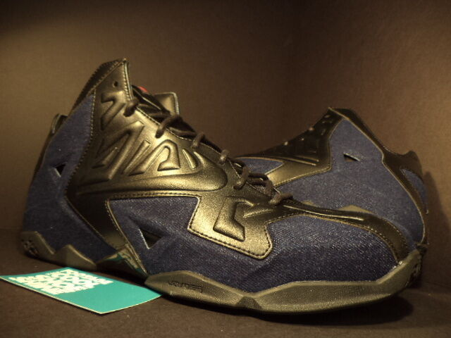 2018 Nike LEBRON XI 11 EXT DENIM QS Noir NAVY Bleu 659509-004 CORK NEW 9.5